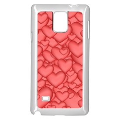 Background Hearts Love Samsung Galaxy Note 4 Case (white)