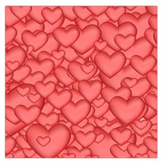Background Hearts Love Large Satin Scarf (square)