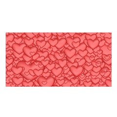 Background Hearts Love Satin Shawl