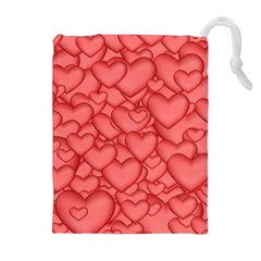Background Hearts Love Drawstring Pouches (extra Large)
