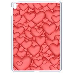 Background Hearts Love Apple Ipad Pro 9 7   White Seamless Case by Nexatart