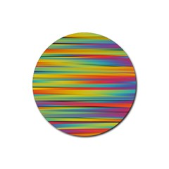 Colorful Background Rubber Coaster (round)