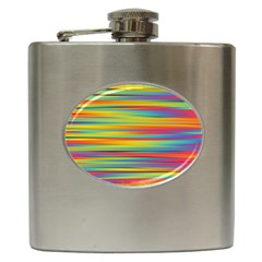 Colorful Background Hip Flask (6 Oz)