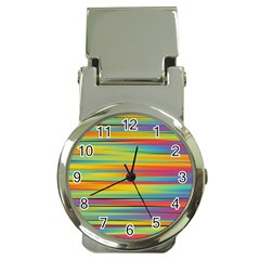 Colorful Background Money Clip Watches