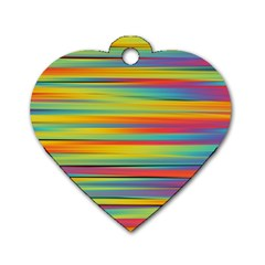Colorful Background Dog Tag Heart (two Sides)