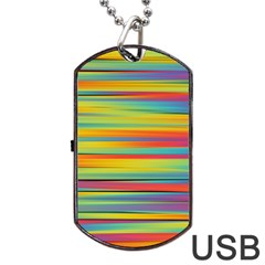 Colorful Background Dog Tag Usb Flash (two Sides)