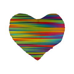 Colorful Background Standard 16  Premium Flano Heart Shape Cushions