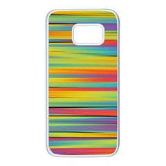 Colorful Background Samsung Galaxy S7 White Seamless Case by Nexatart