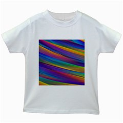 Colorful Background Kids White T Shirts