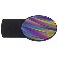 Colorful Background Usb Flash Drive Oval (2 Gb)