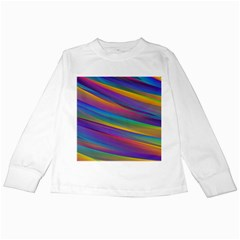 Colorful Background Kids Long Sleeve T Shirts