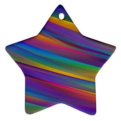Colorful Background Star Ornament (two Sides)