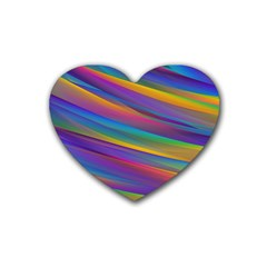 Colorful Background Heart Coaster (4 Pack)