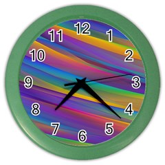 Colorful Background Color Wall Clocks
