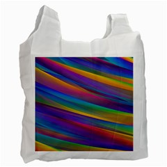 Colorful Background Recycle Bag (two Side)  by Nexatart