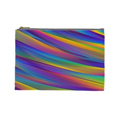Colorful Background Cosmetic Bag (large)