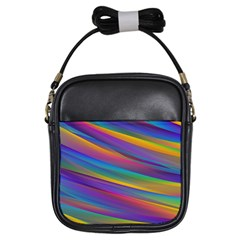 Colorful Background Girls Sling Bags