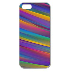 Colorful Background Apple Seamless Iphone 5 Case (clear)