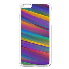Colorful Background Apple Iphone 6 Plus/6s Plus Enamel White Case