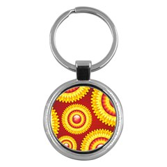 Floral Abstract Background Texture Key Chains (round)
