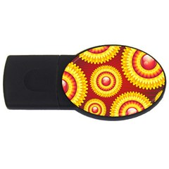 Floral Abstract Background Texture Usb Flash Drive Oval (2 Gb)