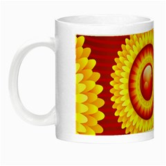 Floral Abstract Background Texture Night Luminous Mugs
