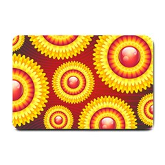 Floral Abstract Background Texture Small Doormat