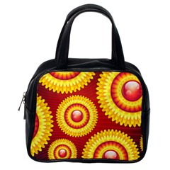 Floral Abstract Background Texture Classic Handbags (one Side)