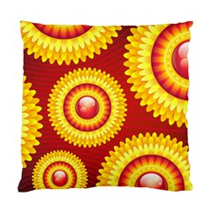 Floral Abstract Background Texture Standard Cushion Case (one Side)