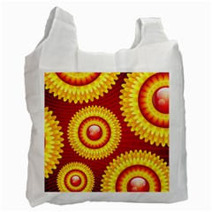 Floral Abstract Background Texture Recycle Bag (one Side)