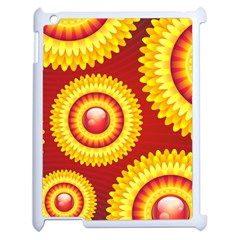 Floral Abstract Background Texture Apple Ipad 2 Case (white)
