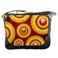 Floral Abstract Background Texture Messenger Bags