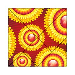 Floral Abstract Background Texture Acrylic Tangram Puzzle (6  X 6 )