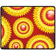 Floral Abstract Background Texture Double Sided Fleece Blanket (medium)