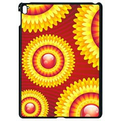 Floral Abstract Background Texture Apple Ipad Pro 9 7   Black Seamless Case