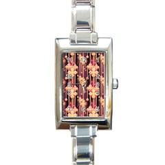Seamless Pattern Patterns Rectangle Italian Charm Watch