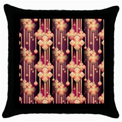 Seamless Pattern Patterns Throw Pillow Case (black)
