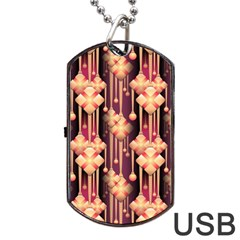 Seamless Pattern Patterns Dog Tag Usb Flash (one Side)