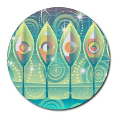 Background Landscape Surreal Round Mousepads by Nexatart