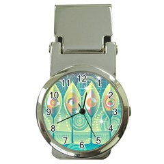Background Landscape Surreal Money Clip Watches