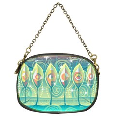 Background Landscape Surreal Chain Purses (two Sides)