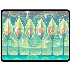 Background Landscape Surreal Fleece Blanket (large)