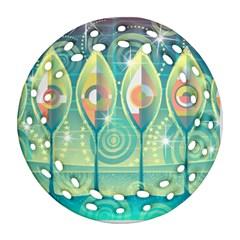 Background Landscape Surreal Ornament (round Filigree)
