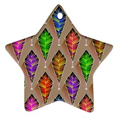 Abstract Background Colorful Leaves Ornament (star)