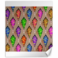 Abstract Background Colorful Leaves Canvas 8  X 10