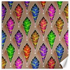 Abstract Background Colorful Leaves Canvas 16  X 16