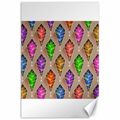 Abstract Background Colorful Leaves Canvas 24  X 36