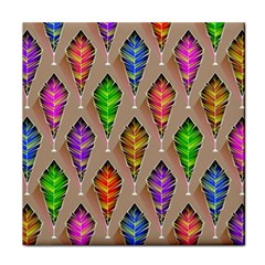 Abstract Background Colorful Leaves Face Towel