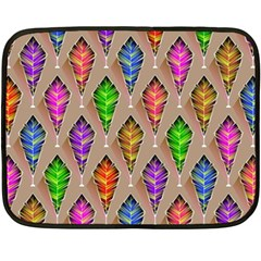 Abstract Background Colorful Leaves Fleece Blanket (mini) by Nexatart