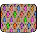 Abstract Background Colorful Leaves Fleece Blanket (Mini) 35 x27 Blanket